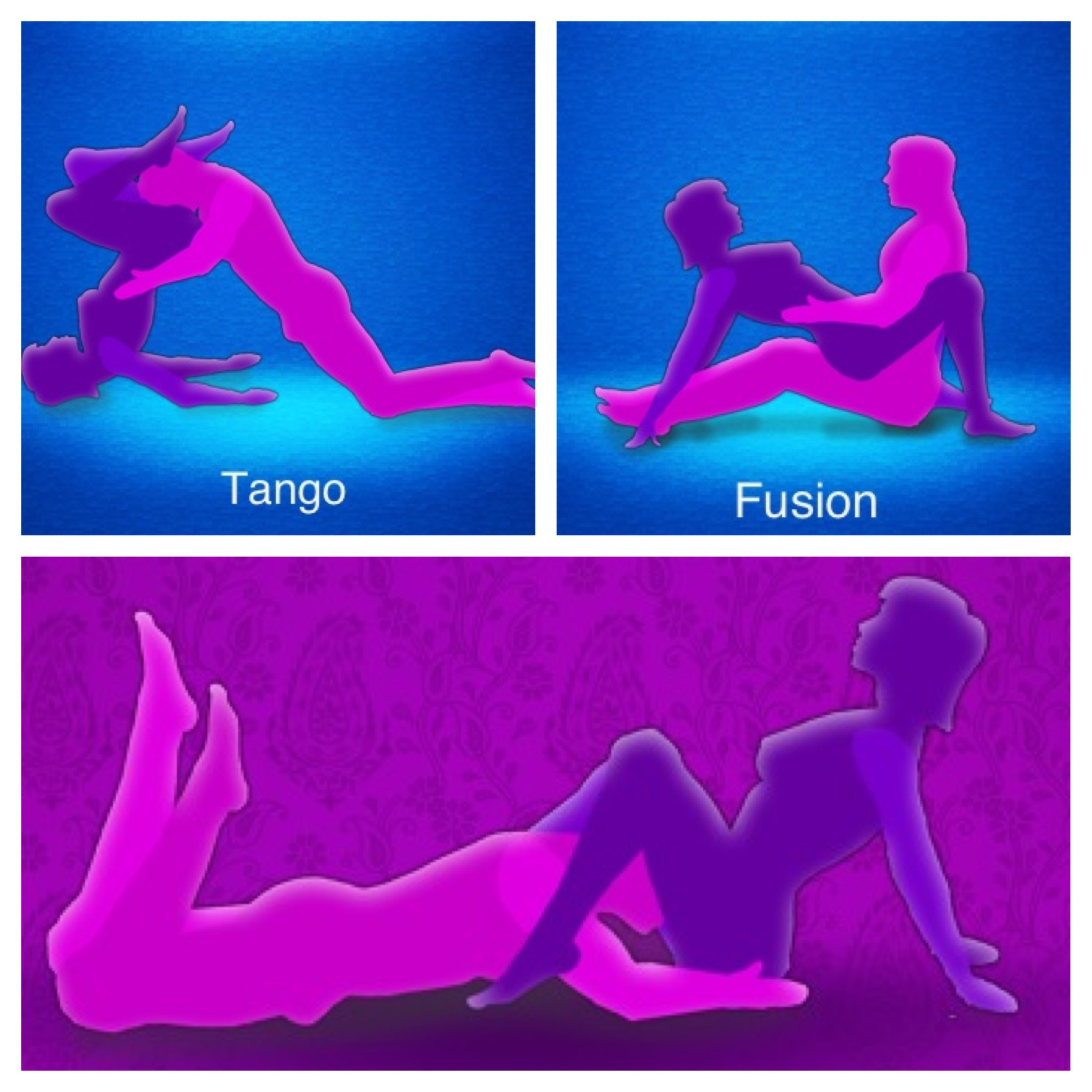 Sex position with exercise ball